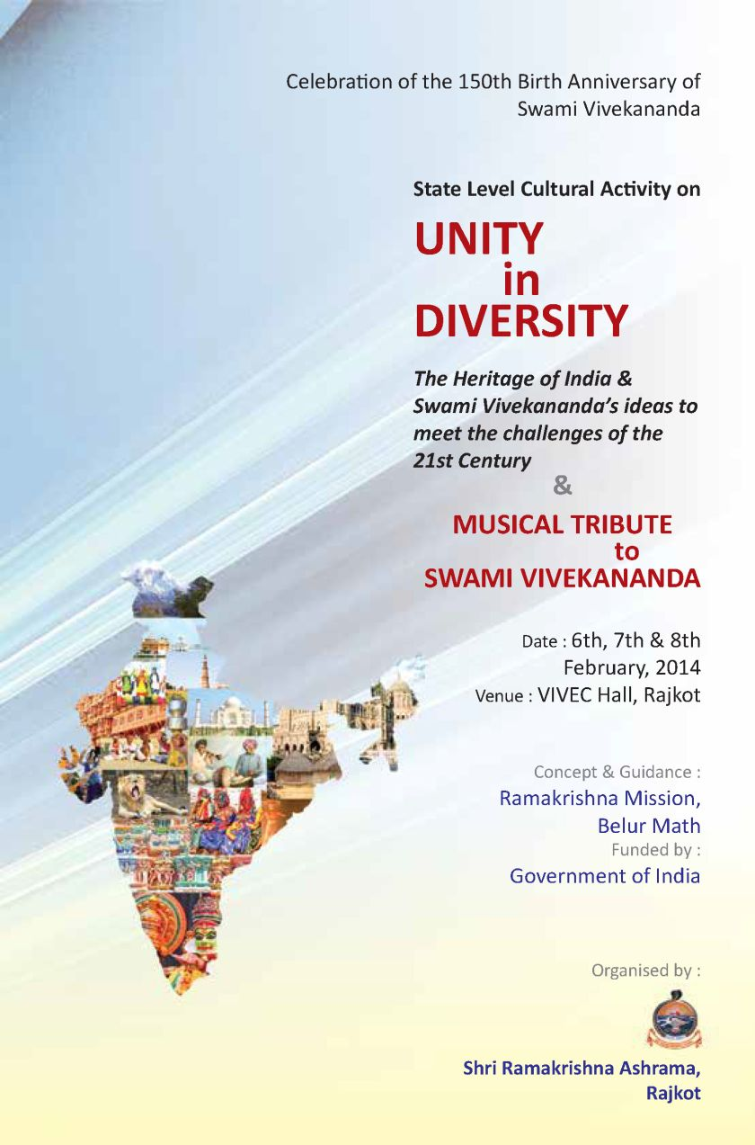 swami vivekananda s th birth anniversary unity in diversity and unity in diversity
